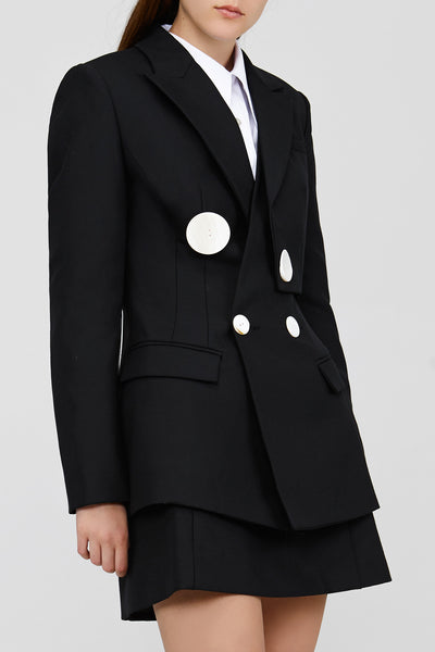 Black Acler Lynne Blazer with Button Detail