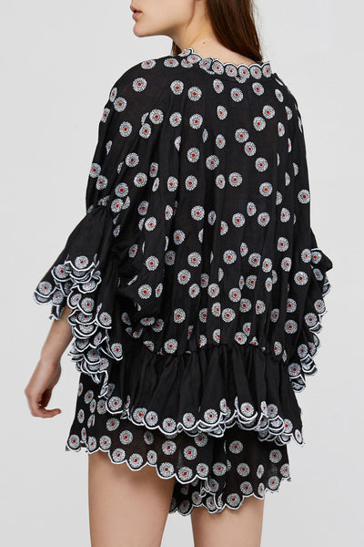 Black Oversized Acler Ladies Linen Blouse