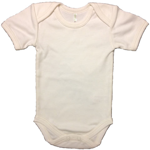 Boske Kids Pima Organic Cotton Onesie (White)