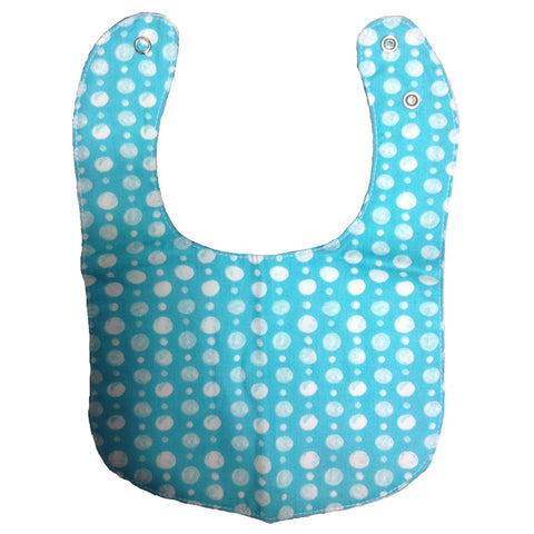 Organically Cute Organic Bib - Teal Bubbles