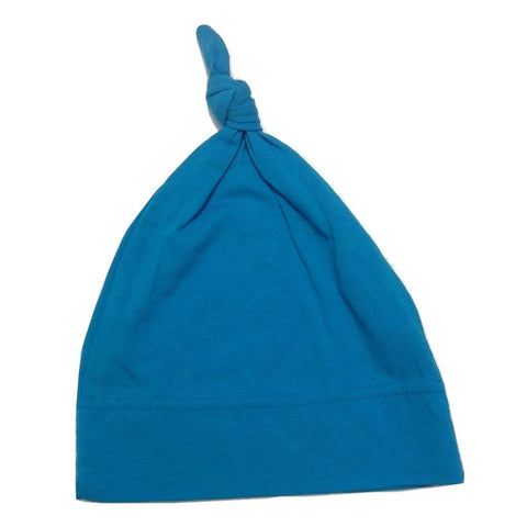 Organic Soft Bamboo Baby Toque - Blue