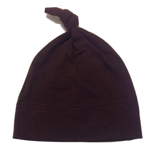 Organic Soft Bamboo Baby Toque - Brown (NB - 3 months)