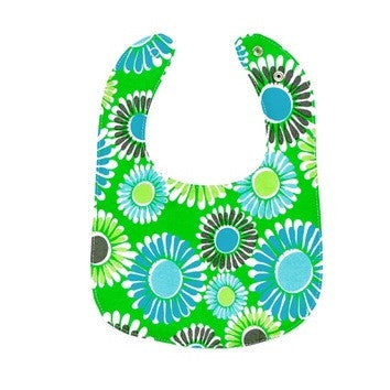 Organically Cute Organic Bib - Green Flower