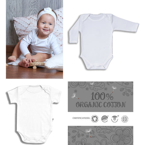 Elegant baby girl - organic cotton butterfly body with bow 2 PIECES SET - Luxury line