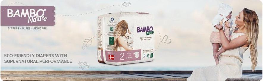 Bambo Nature Chlorine Free Diapers - Natural Diapers Best Seller - Make your Baby Bum happy