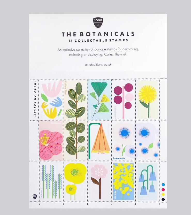 Botanical Stamp Collection