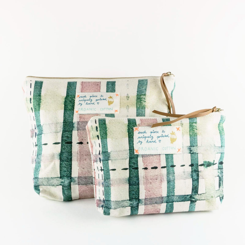 "Necessaire ""My Green Check"""