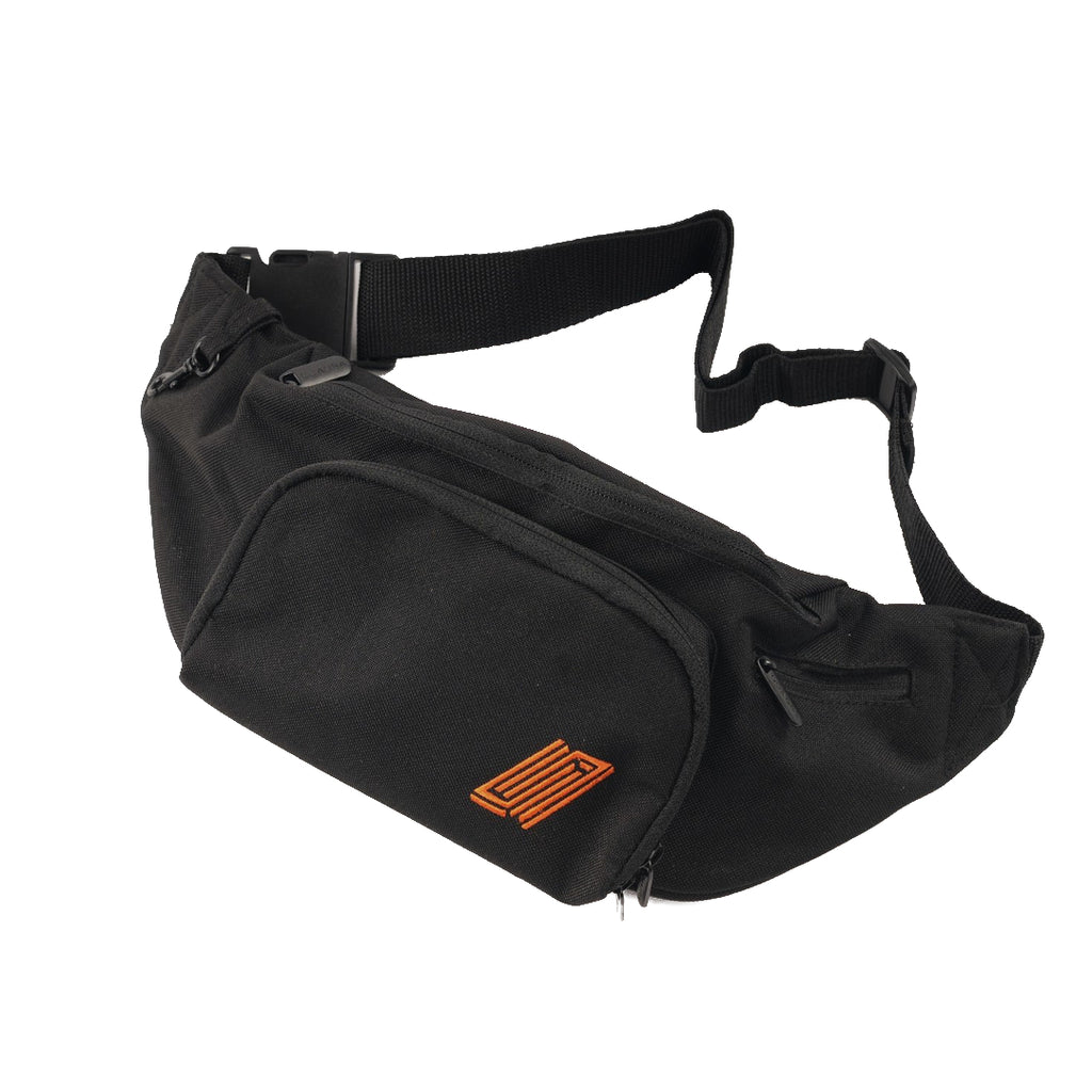 Reborn Belt Bag - Black/Pumpkin Orange