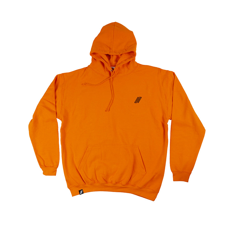 Orange Peel Embroidered Hooded Sweat - BMX Clothing
