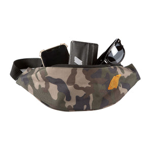 Belt Bag - Camo with Orange Stitch
