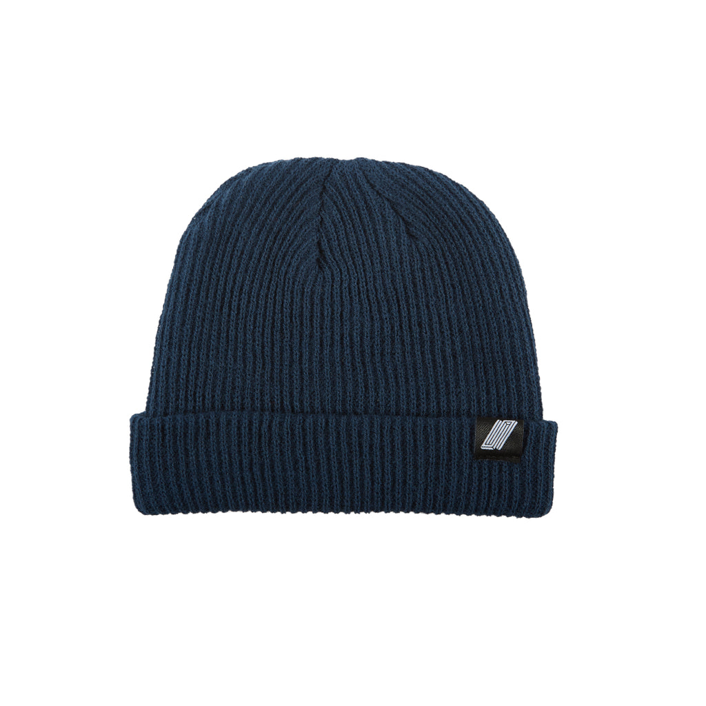 Label Beanie Navy Blue
