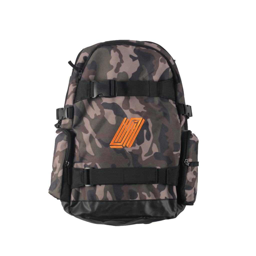 Dayward Backpack - Camo with Orange stitch
