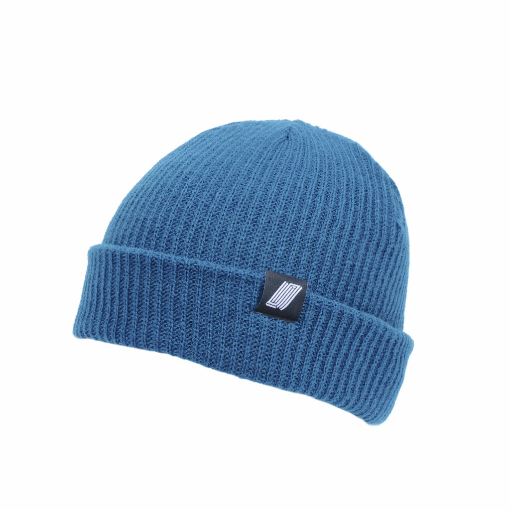 Label Beanie Blue