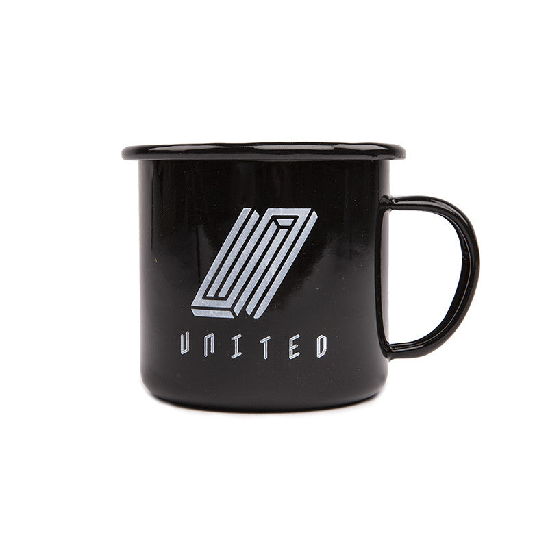 United Reborn Enamel Mug Black