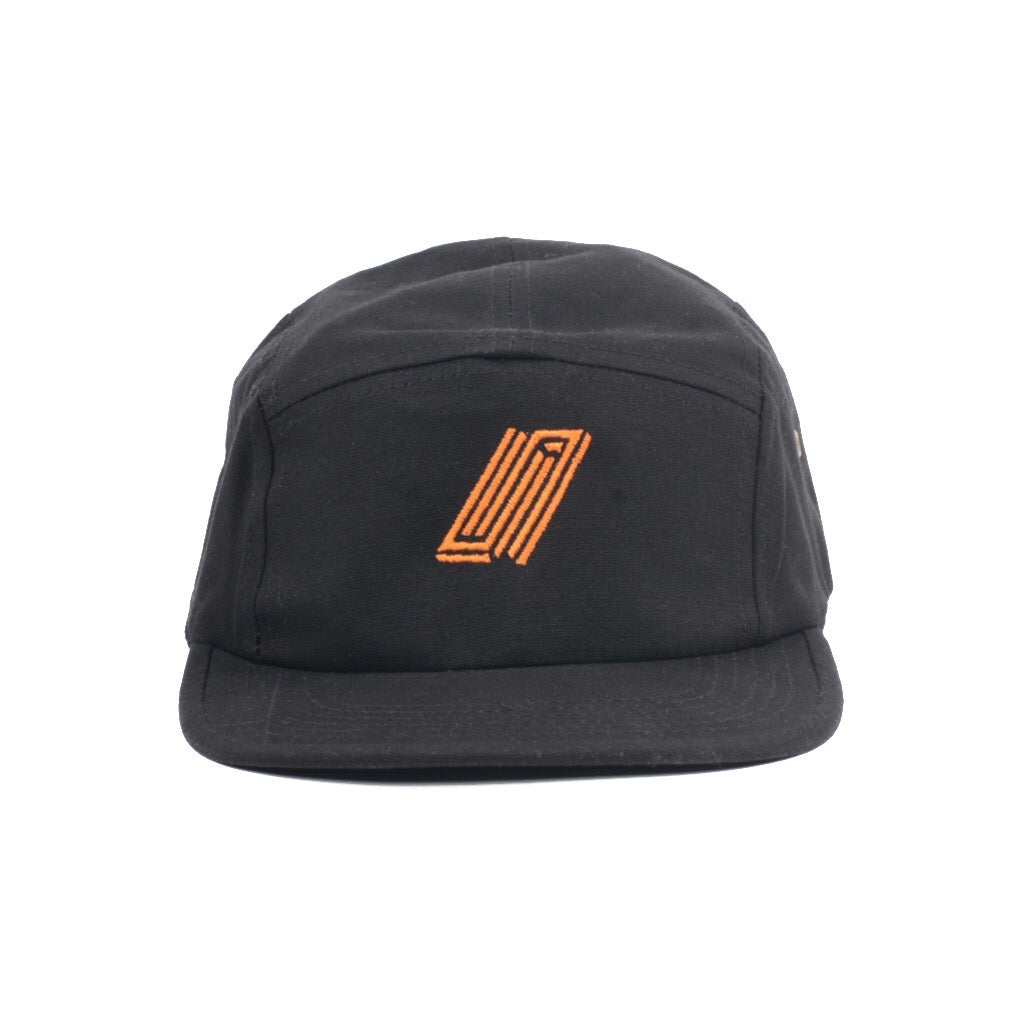 Reborn 5 Panel Embroidered Cap - Pumpkin Orange