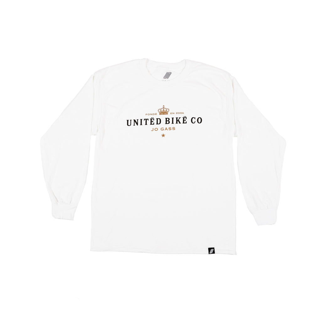 United Moet Jo Gass Long Sleeve T-Shirt White