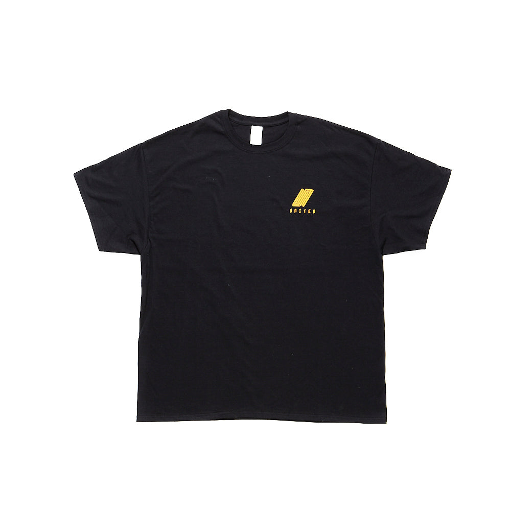 United Reborn T-Shirt Yellow on Black