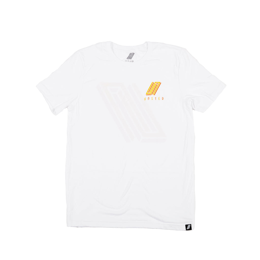 United Reborn T-Shirt White With Orange Print