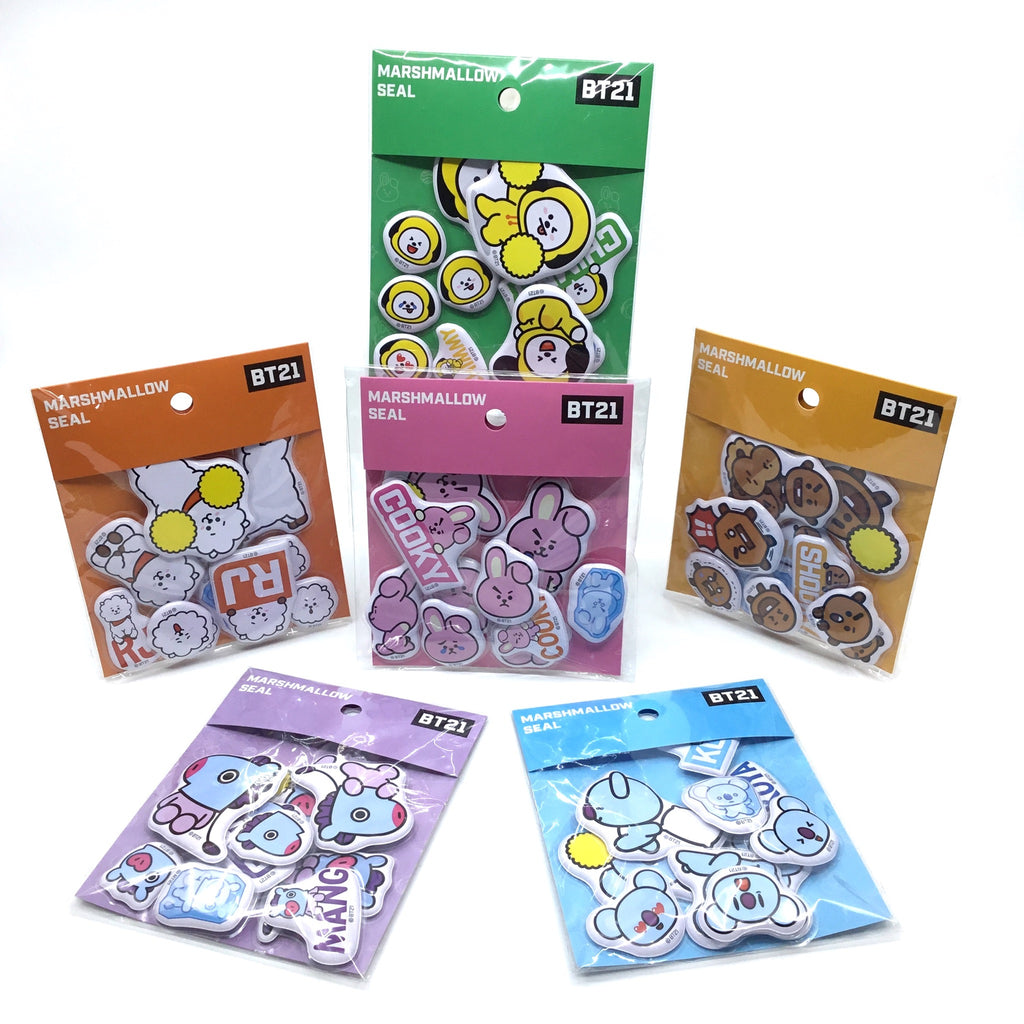 BT21 Figure Sticker - (Koya, Cooky, Shooky, RJ, Chimmy, Mang)