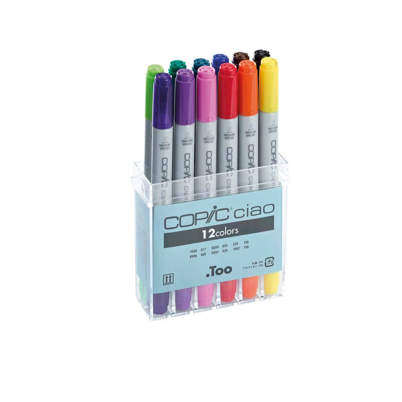Copic Ciao - 12 Colos - 12 Stifte Set