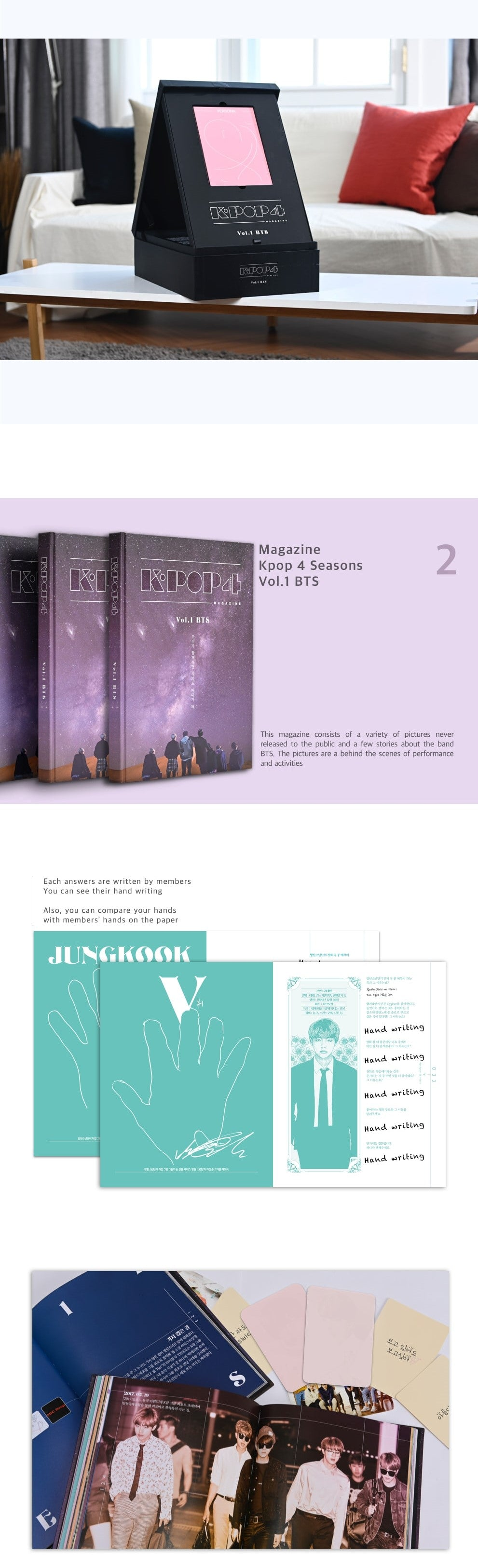 BTS - KPOP 4Seasons Magazine Vol. 1 - Pre-Order