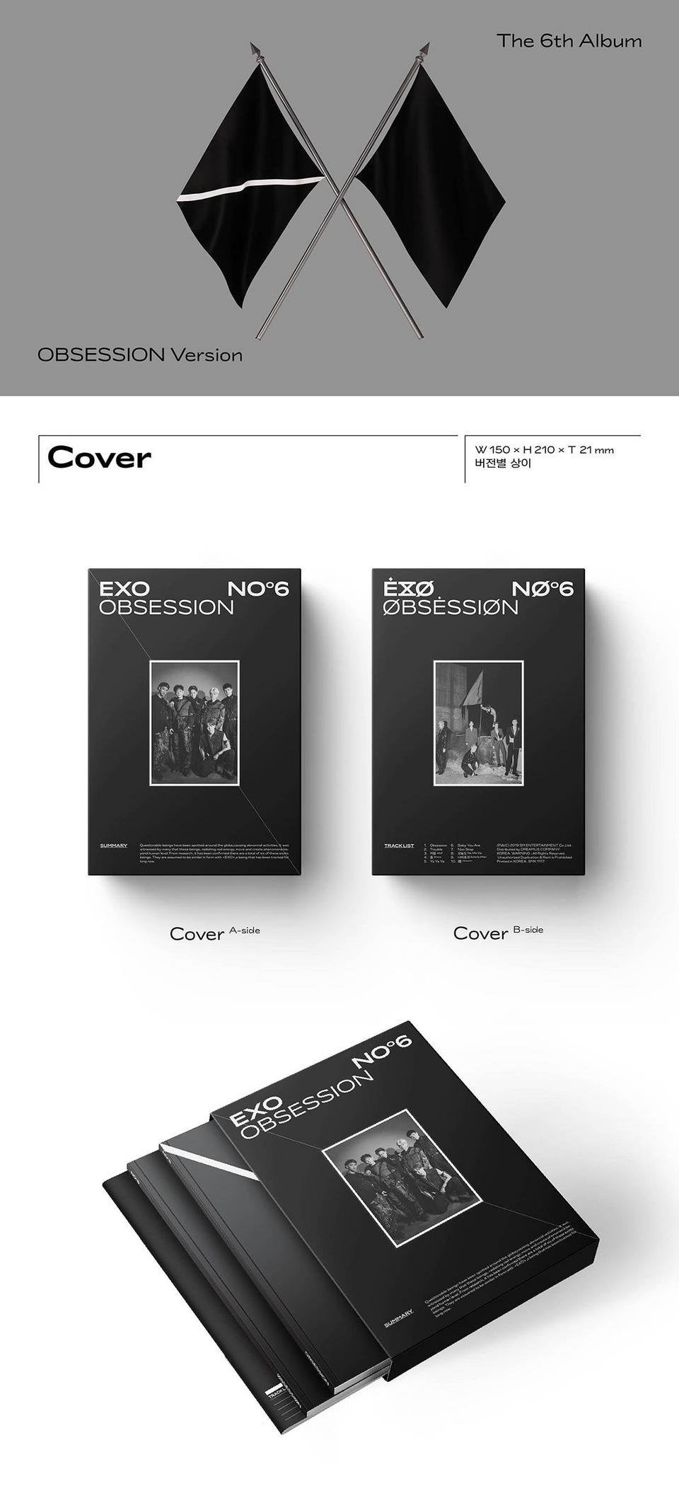 EXO - Obsession - Vol.6/Obsession Version - J-Store Online