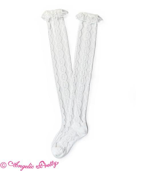 ANGELIC PRETTY - Airy Lace Over the Knee Socks