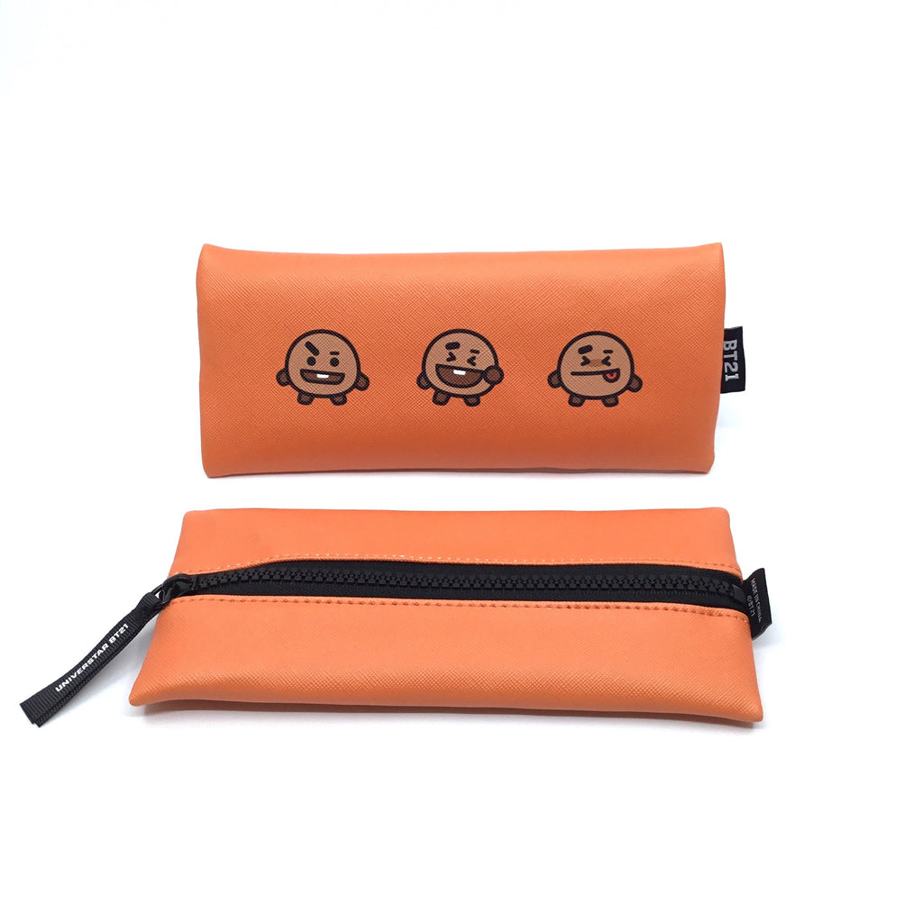 BT21 Flat Pencil Case (Shooky, Mang)