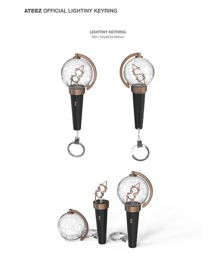 Ateez Official Lightiny Keyring