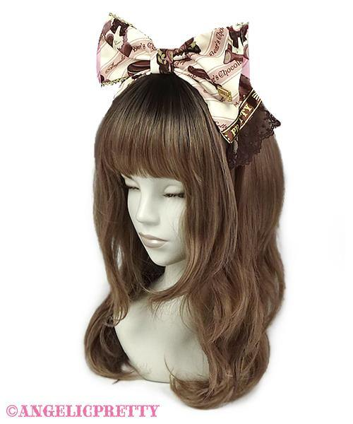 ANGELIC PRETTY - Bear's Chocolaterie Head Bow - J-Store Online