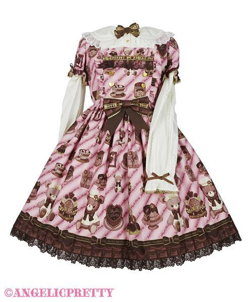 ANGELIC PRETTY - Bear's Chocolaterie Onepiece - J-Store Online