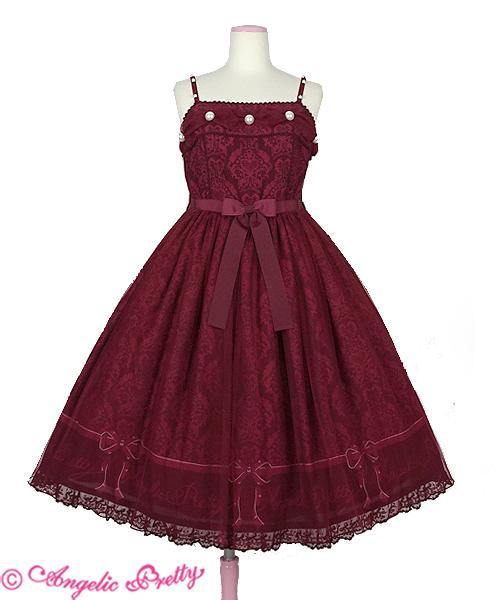 ANGELIC PRETTY - Dolly Damask JSK (Rot)