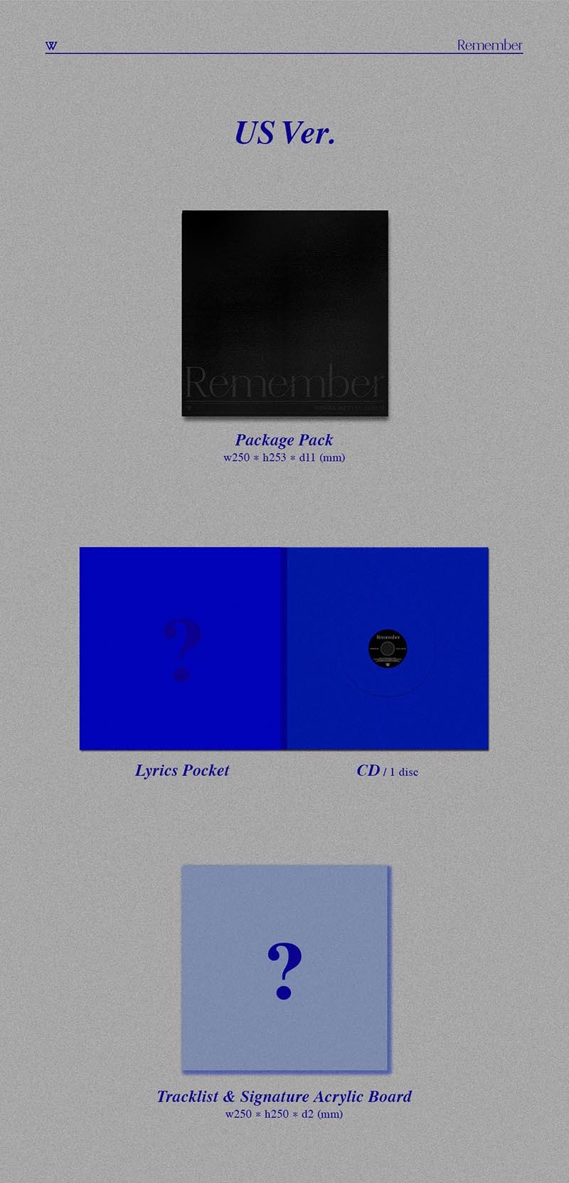 WINNER - Remember (3rd Full Album) - J-Store Online