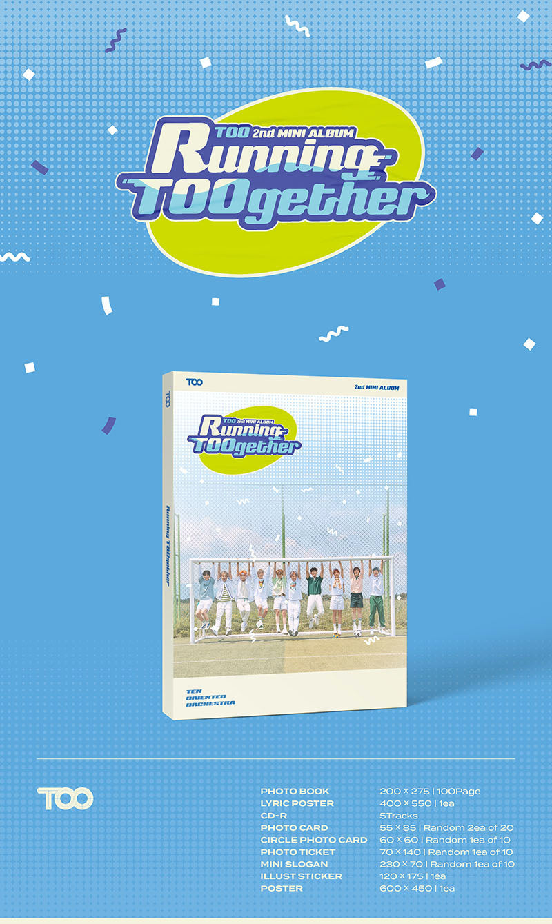 TOO - Running TOOgether (2nd Mini Album) - J-Store Online