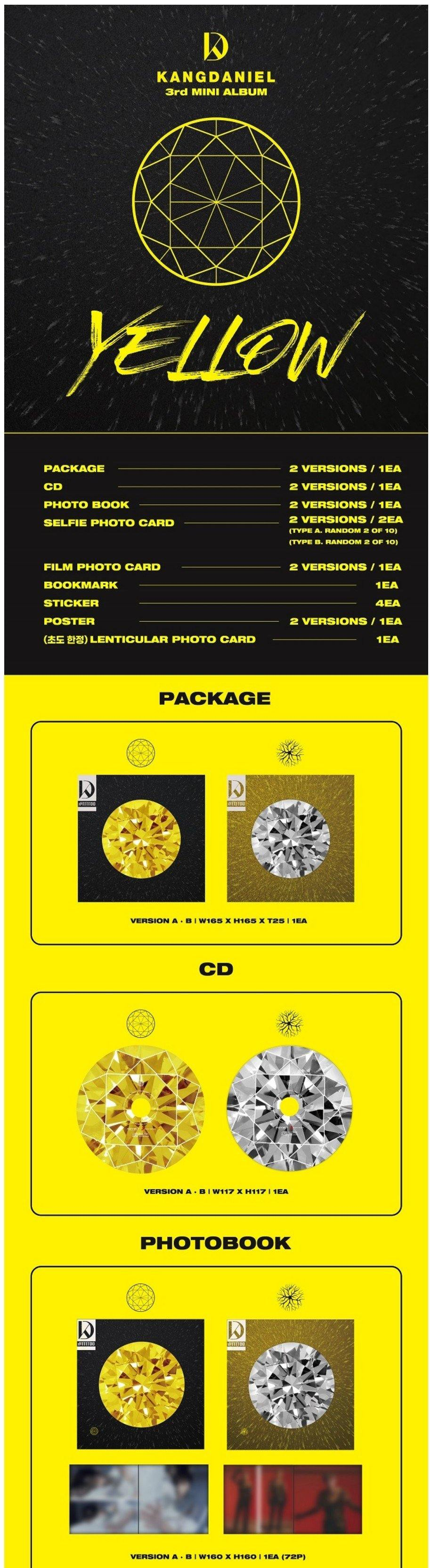 KANG DANIEL - YELLOW (3RD MINI ALBUM) - Pre-Order