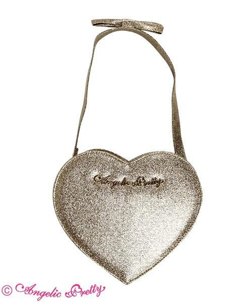 ANGELIC PRETTY Glitter Love Heart Logo Pochette