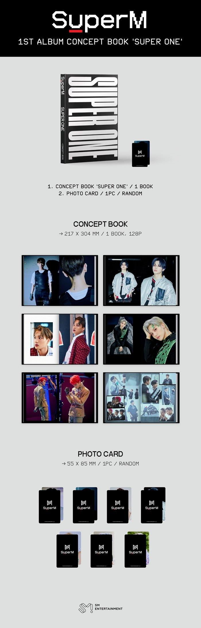 SUPERM - 1ST ALBUM CONCEPT BOOK [SUPER ONE]