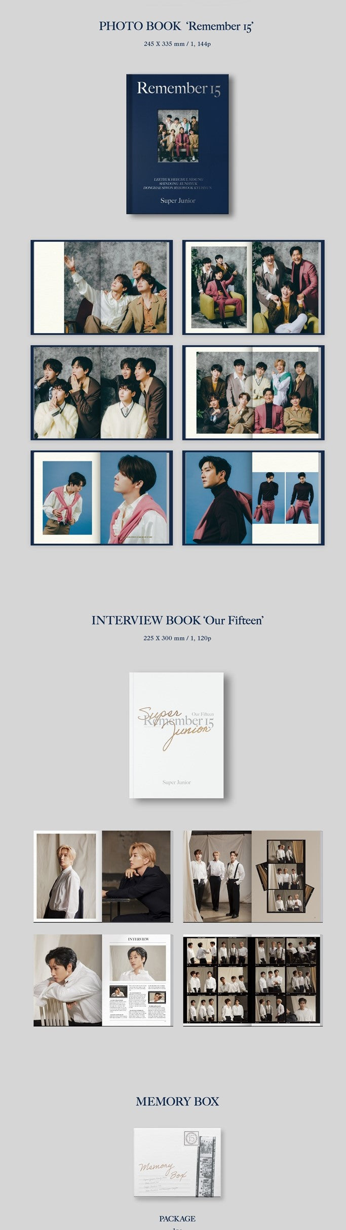 SUPER JUNIOR - 15TH ANNIVERSARY PHOTO BOOK [REMEMBER 15]