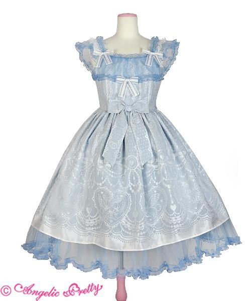 ANGELIC PRETTY - Lacy Heart Garden JSK