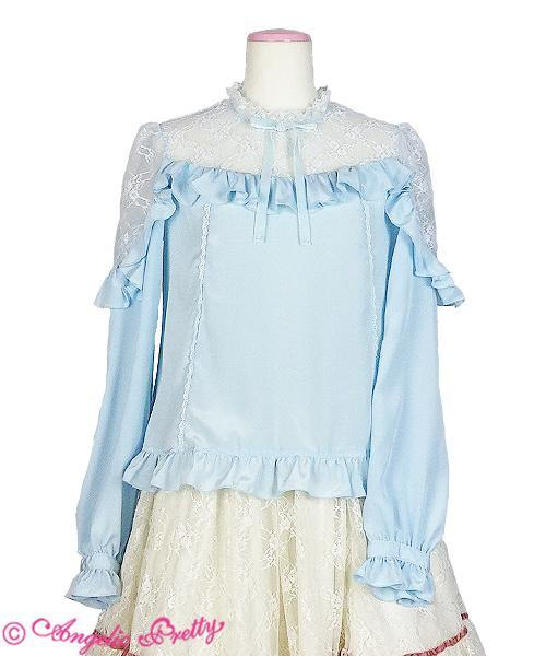 ANGELIC PRETTY - Lacy Frill  Bluse - J-Store Online