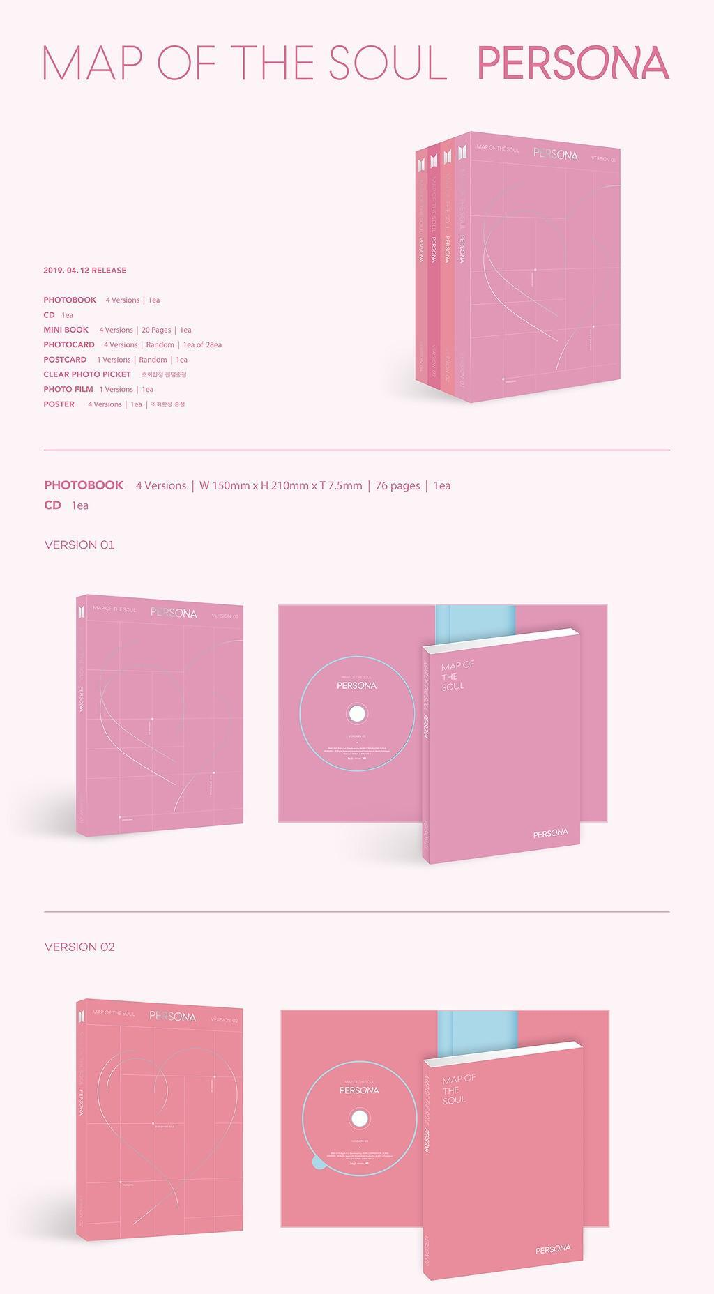 BTS - Map Of The Soul: Persona - Pre-Order