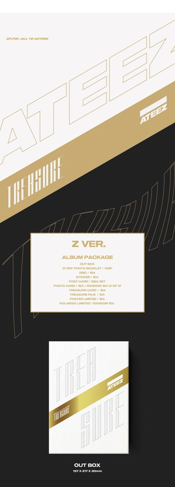 ATEEZ -Vol. 1 (Treasure Island Ep. Fin: All to Action) - J-Store Online