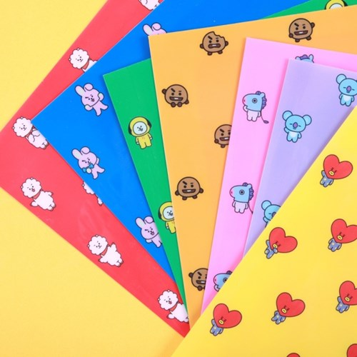 BT21 2 Pockets Document Holder (Alle Charaktere)