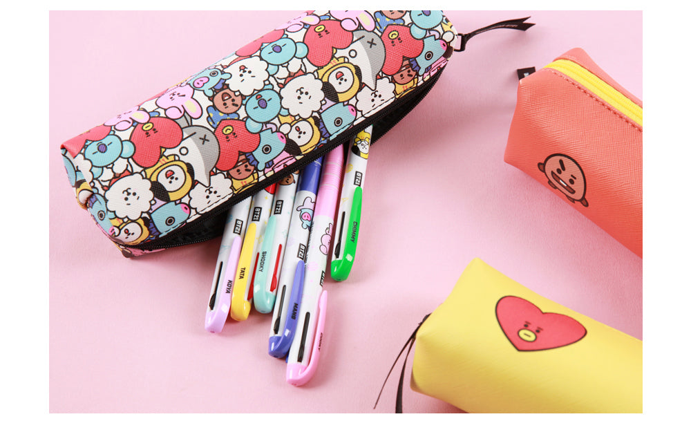 BT21 Stick Pencil Case (Cooky, Tata, Shooky, Chimmy und Mang)