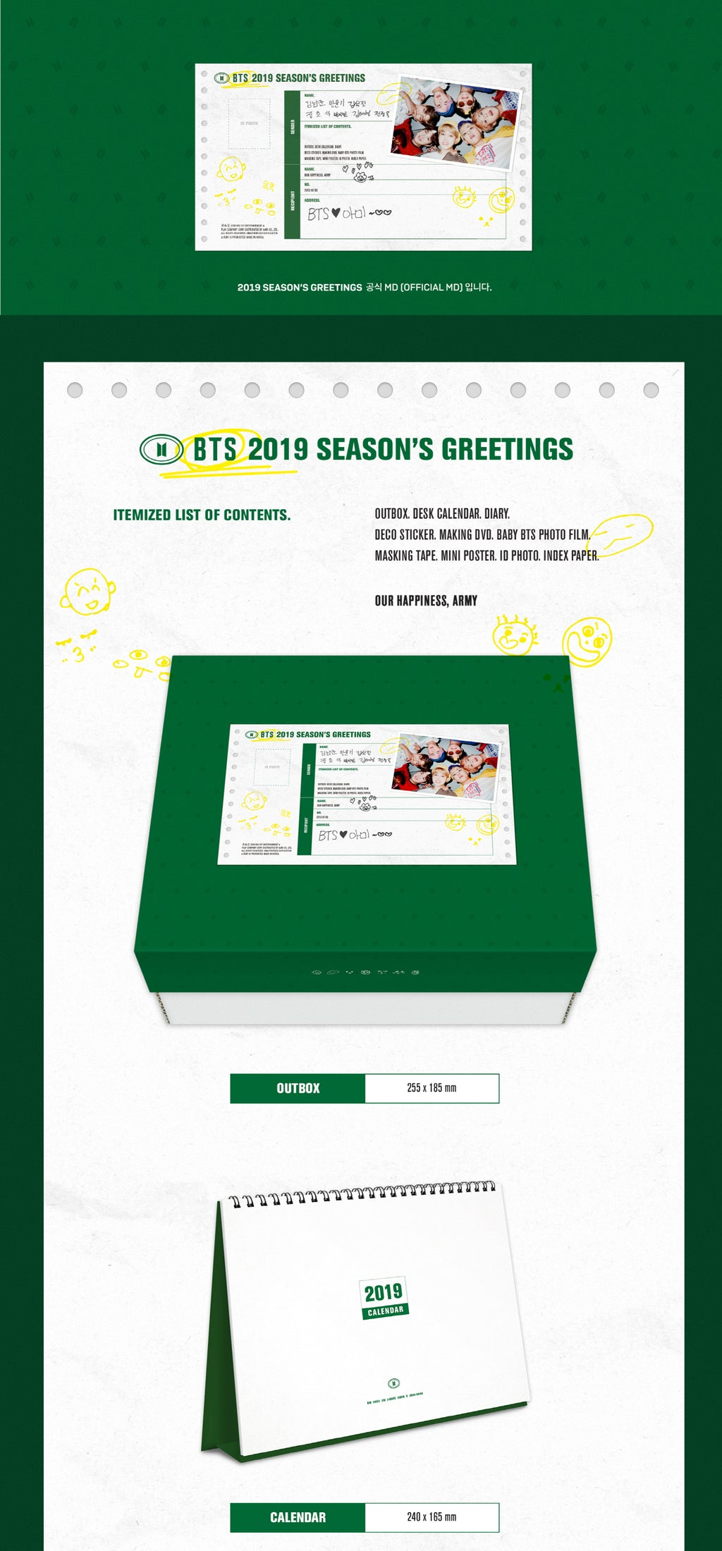 BTS 2019 Season's Greetings - Pre-Order