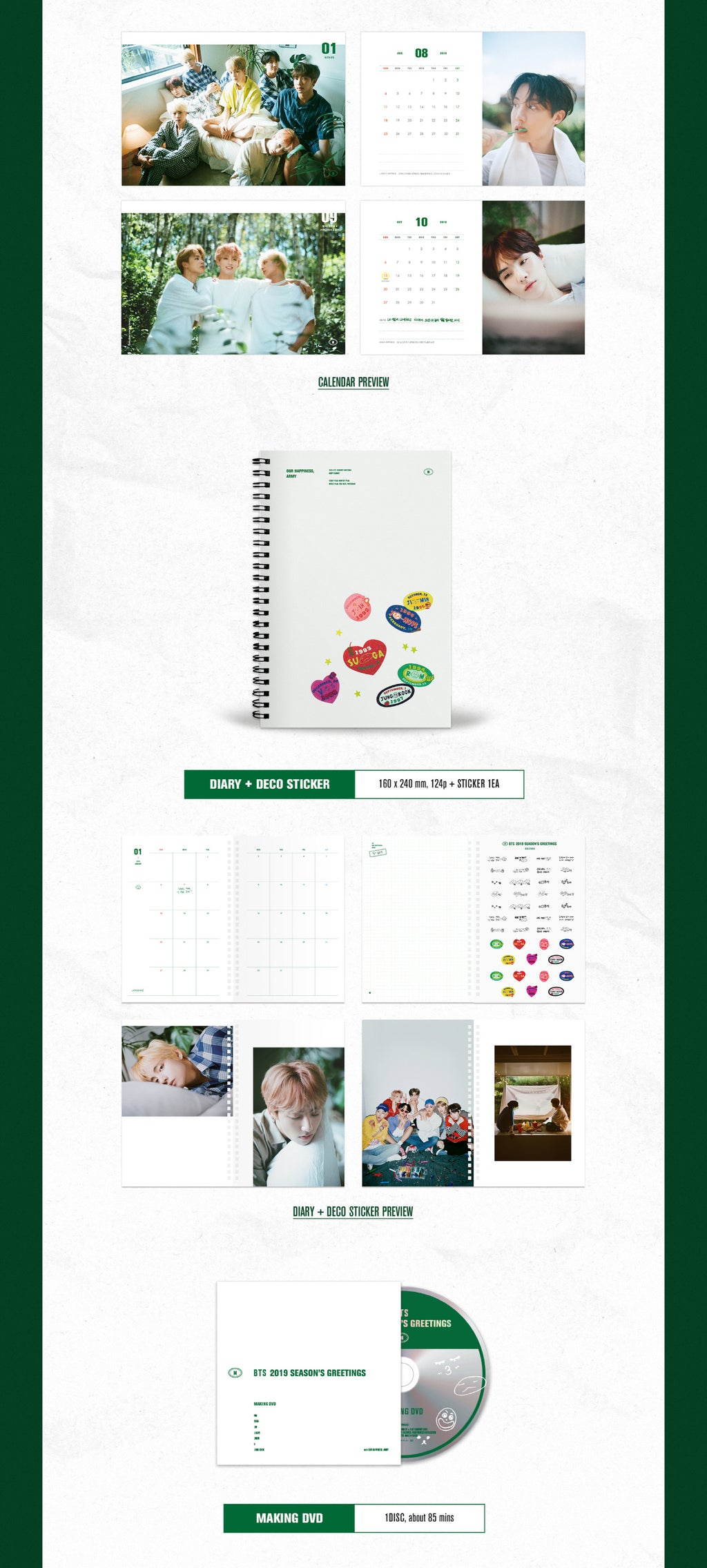 BTS 2019 Season's Greetings + Wall Calendar (Limited Edition) - Pre-Order