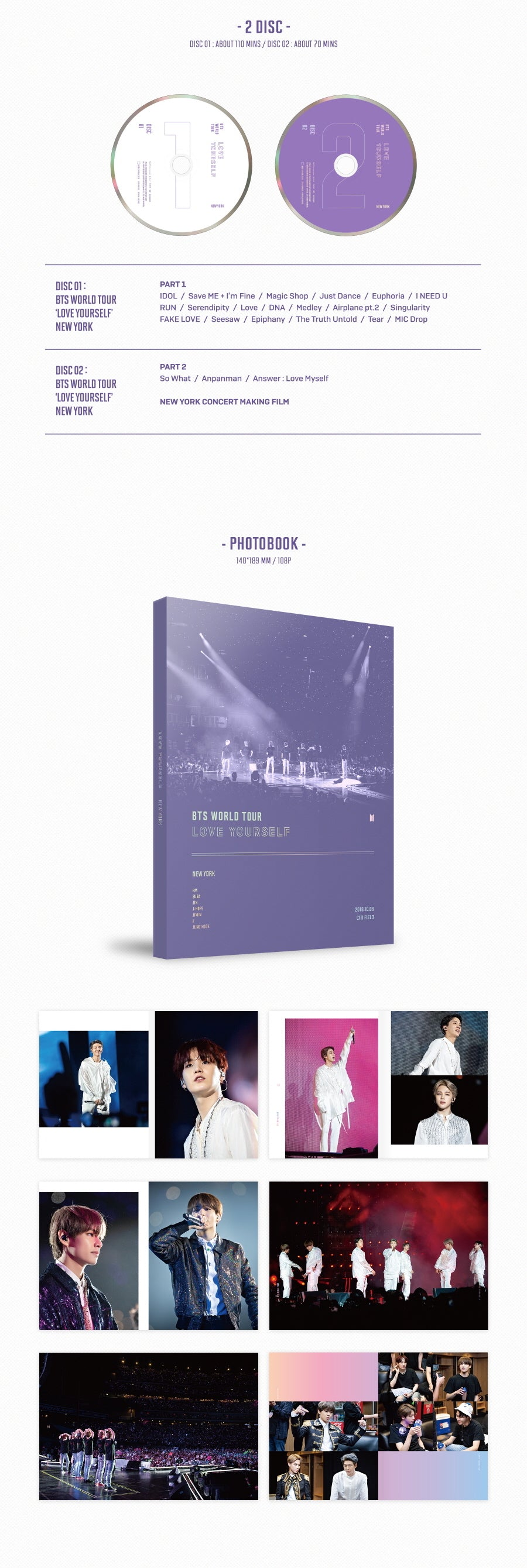 BTS - Love Yourself : New York - 2 DVDs - Pre-Order