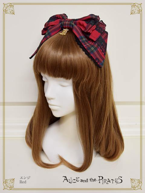 ALICE AND THE PIRATES - Alice's Cards Lace Tartan Check Headbow