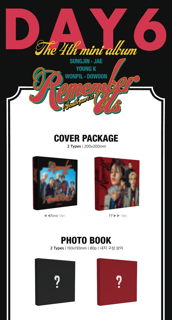 DAY6 - Remember Me: Youth Part 2 - Pre-Order