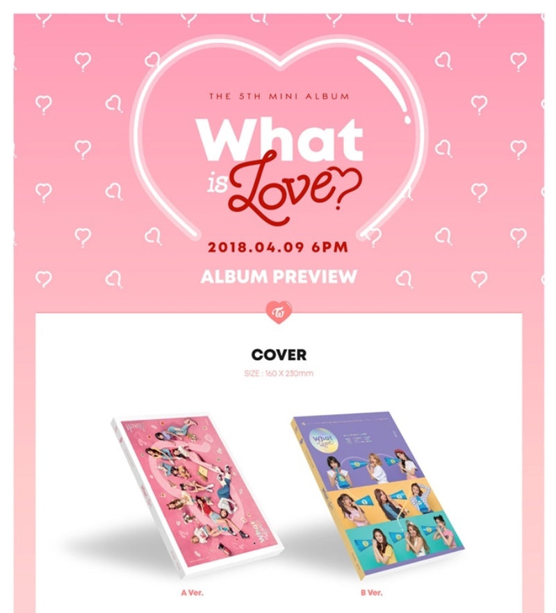 Twice - What is Love? - 5th Mini Album - J-Store Online